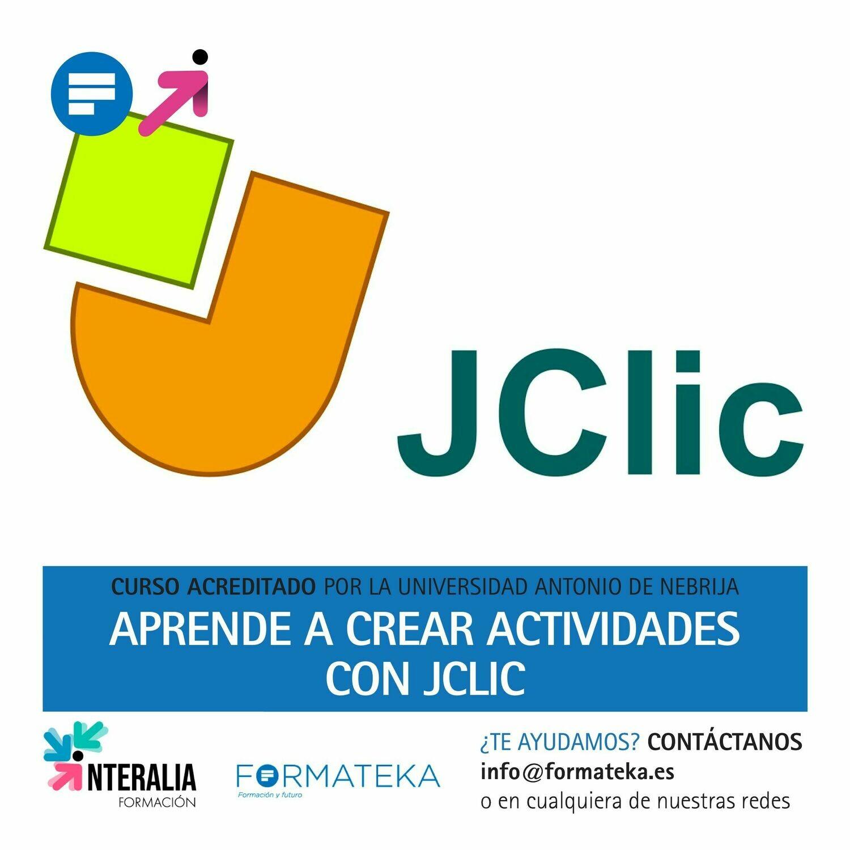 Aprende a crear actividades con JClic - 50 Horas - 2 Créditos CFC