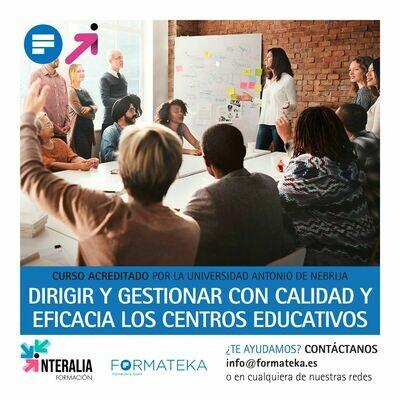 Dirigir y gestionar con calidad y eficacia los centros educativos - 100 Horas - 4 Créditos CFC