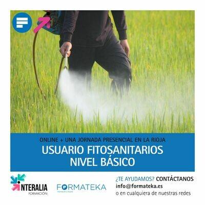 Usuario fitosanitarios (nivel básico) - 25 Horas - Online + una jornada presencial en La Rioja