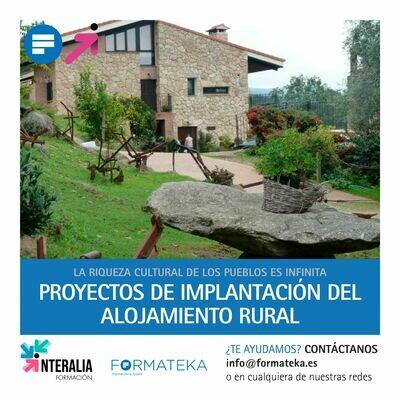 Proyectos de implantación del alojamiento rural (20 Horas)