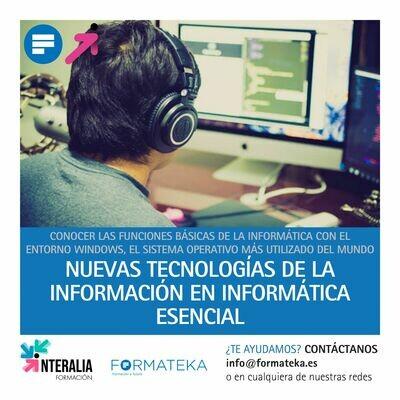 Nuevas tecnologías de la información en informática esencial (90 Horas)