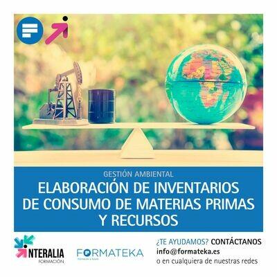 Elaboración de inventarios de consumo de materias primas y recursos (20 Horas)