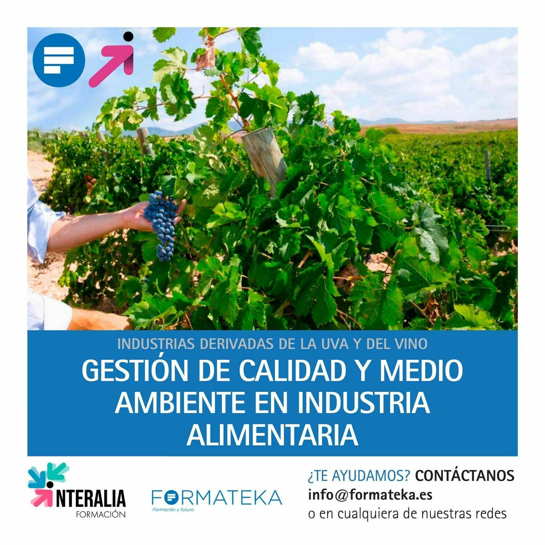 Gestión de calidad y medio ambiente en industria alimentaria (20 Horas)