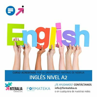 Inglés nivel A2 - 150 Horas - 6,0 Créditos CFC