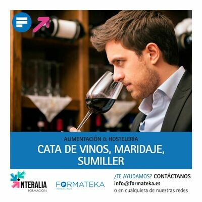 Cata de vinos, maridaje, sumiller (20 Horas)