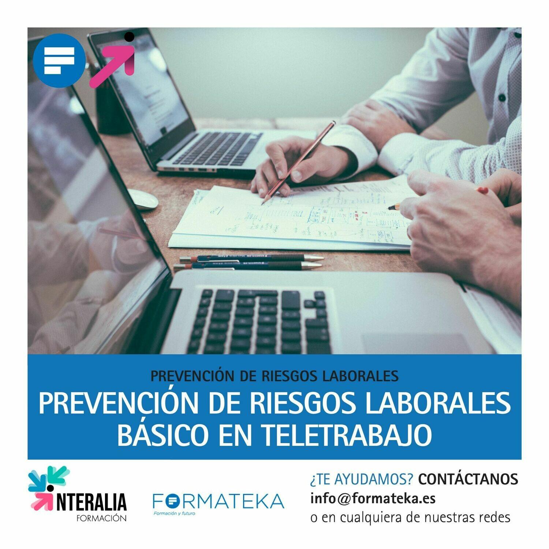 Prevención de riesgos laborales básico en teletrabajo (60 Horas)
