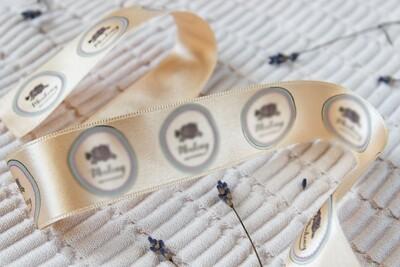 Тканевые бирки, лента с логотипом