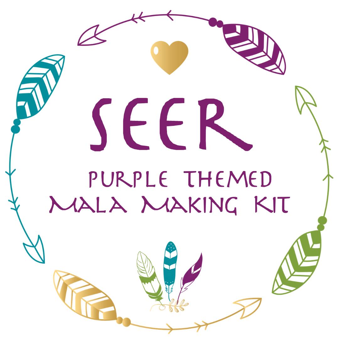 SEER ~ Purple Themed Mala Making Kit