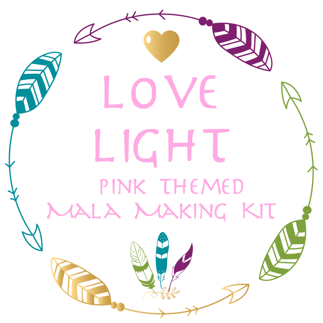 LOVE LIGHT ~ Pink Themed Mala Making Kit