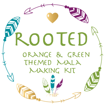 ROOTED ~ Orange and Green Themed Mala Making Kit