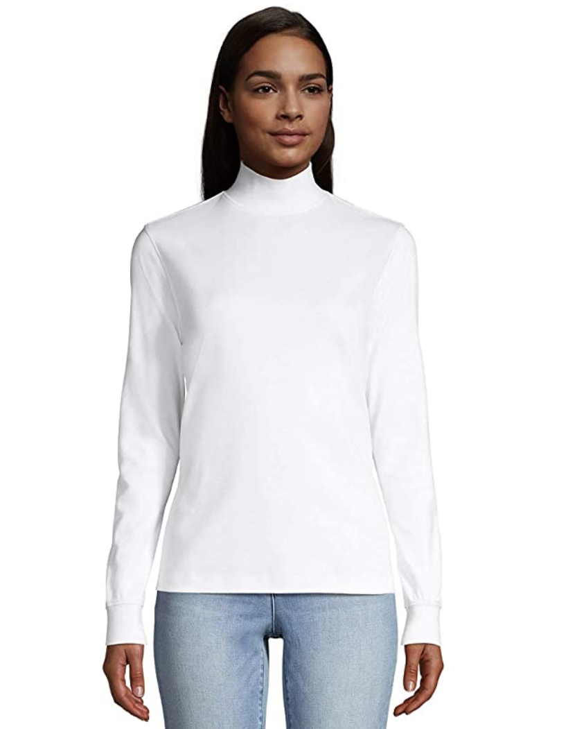 Women's White Turtle Neck