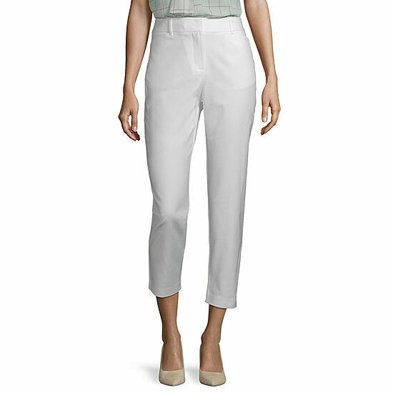 Women's White Ankle Pant