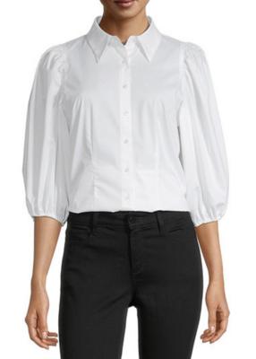 Worthington Women's White Button Down Shirt