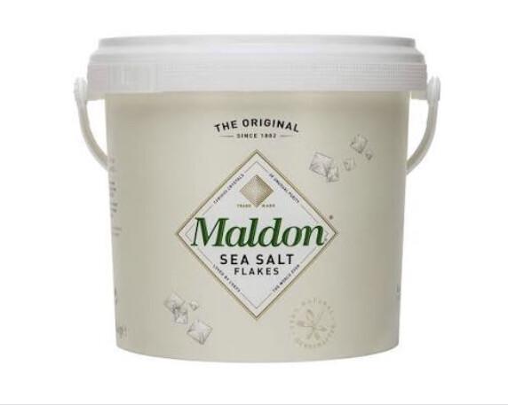 Maldon Sea Salt Flakes / Crystals ~ 1.4kg Bucket x 1