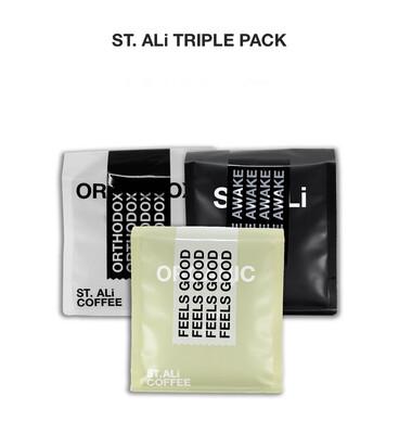 "St. Ali "" Triple Pack "" 250gm ~ Coffee Beans"