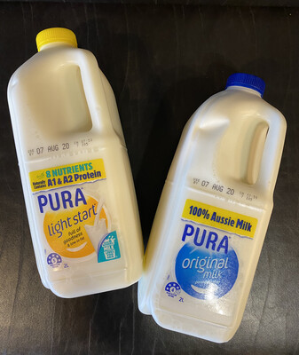 Milk Pura 2ltr : A1 & A2 Protein Combined  x 1