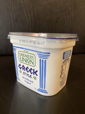 Greek Style Natural Yoghurt : Farmers Union 1kg