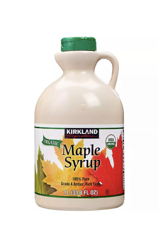 Pure Maple Syrup Grade A Amber ~ 1L Bottle ~ Kirkland 100% Organic