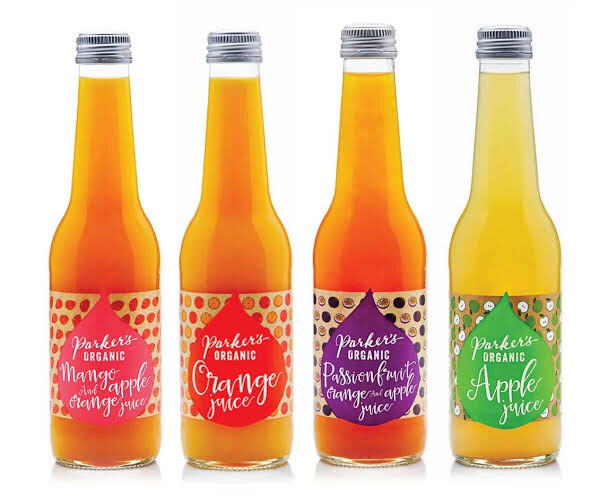 Parker's Organic Juices - 330ml | 4 Pack Assorted