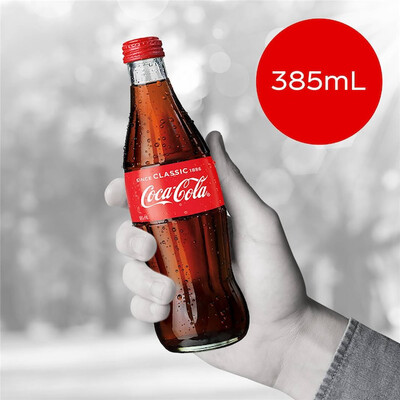 Coke Classic Glass Bottle 385ml x 6