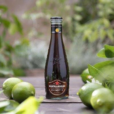 "San Pellegrino ""Chinotto"" Orange Cola Italian Sparkling Water 200ml : 4 Pack Glass Bottles"