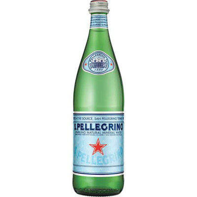 San Pellegrino Sparkling Mineral Water 750ml  : 3 Pack Glass Bottles