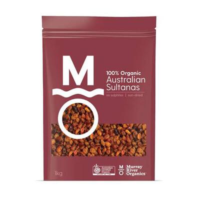 "Murray River Organics ""Sultanas"" 100% Organic Australian 1kg Bag"
