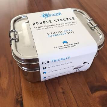 "1 Litre ""Cheeki""Lunch Box - Double Stacker"