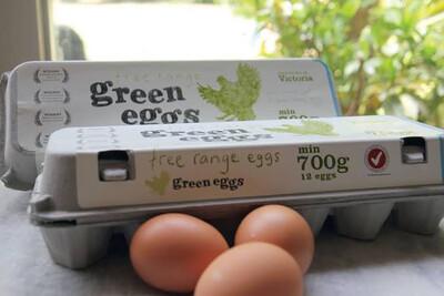 "Eggs x 12pcs | Fresh Free Range ""Green eggs"" 700gm - Victoria"