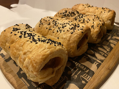 "GABS | GOURMET ""hand rolled"" SAUSAGE ROLL - (hot)"