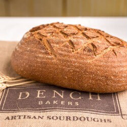 "SOURDOUGH DENCH BREAD ""organic"" THICK SLICE 900gm LOAF"