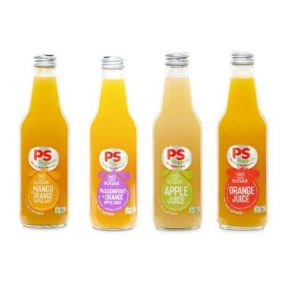 Parker's 100% Organic Juices - 330ml   10 Pack Assorted