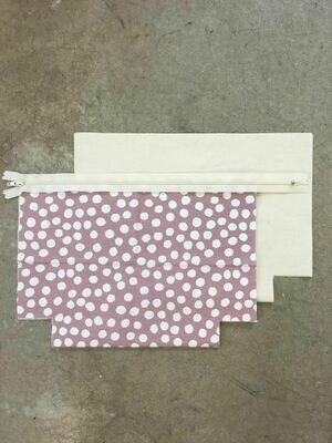 Pink Zip Purse Kit with Spots