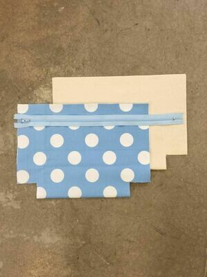 Light Blue Zip Purse Kit with Spots