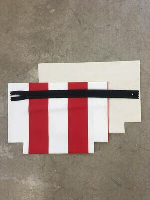 Red and White Zip Purse Kit