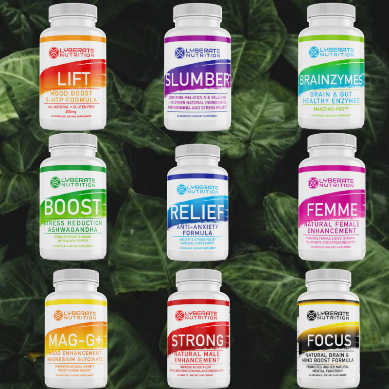LYBERATION-9 Bundle Pack of all Lyberate Nutrition Products