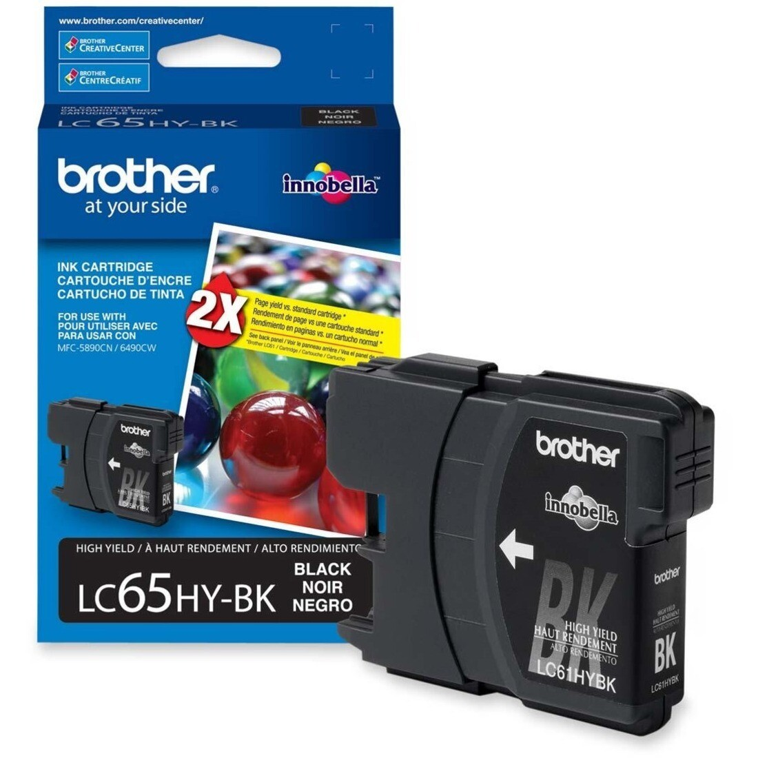 Brother Lc65Hybks Black