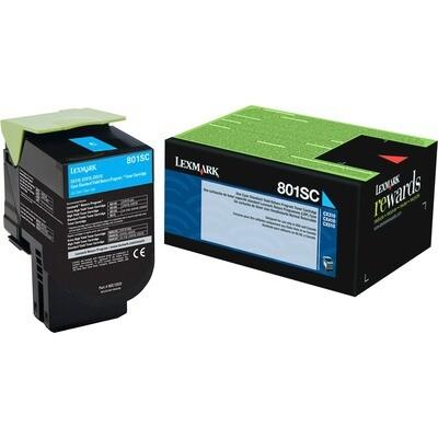 Lexmark Toner 80C1Sc0 Cyan