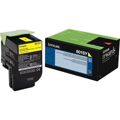 Lexmark Toner 80C1Sy0 Yellow