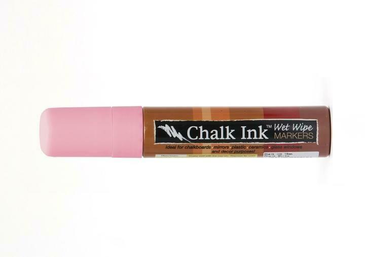 Marker Wet Wipe Chalk Piggy Bank Pink 15Mm