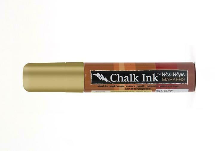 Marker Wet Wipe Chalk Metallic Solid Gold Dancer 15Mm