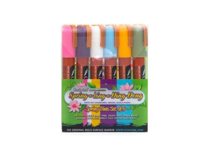 Marker Wet Wipe Chalk 6/Pk 6Mm Spring-A-Ling-A-Ding-Dong