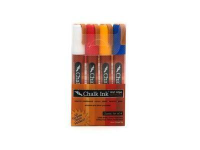 Marker Wet Wipe Chalk 4/Pk Classic 6Mm