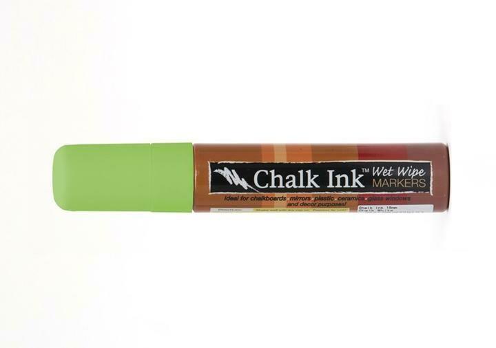 Marker Wet Wipe Chalk Eco Green 15Mm
