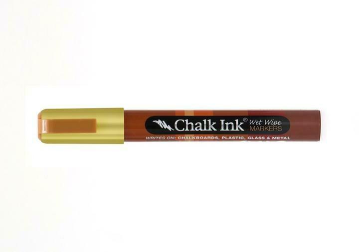 Marker Wet Wipe Chalk Metallic Solid Gold Dancer 6Mm