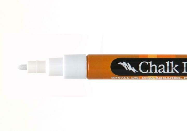 Marker Wet Wipe Chalk Chalk White 1Mm
