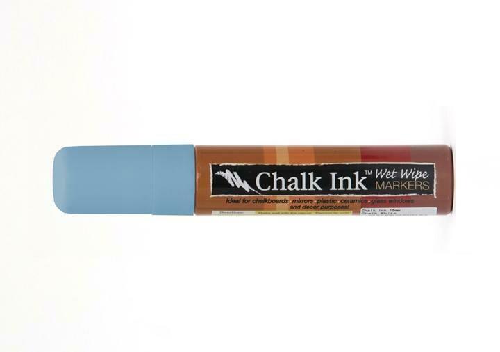 Marker Wet Wipe Chalk Granny Bird Blue 15Mm