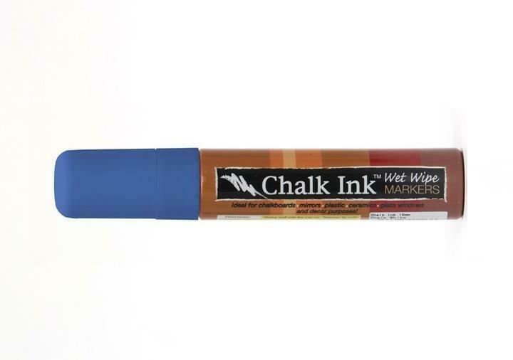 Marker Wet Wipe Chalk Grover Blue 15Mm