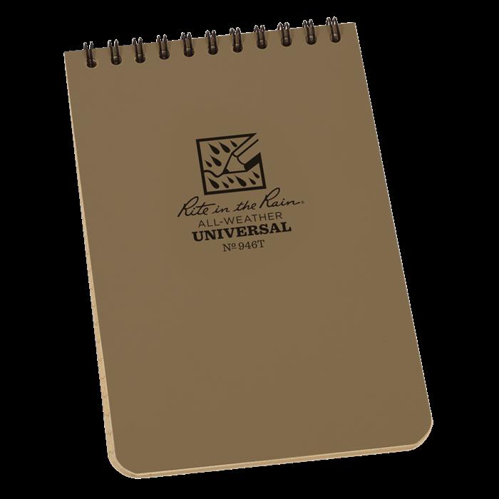 "Notebook 946T Top Coil Universal Tan, 4"" x 6"" - Rite In The Rain"