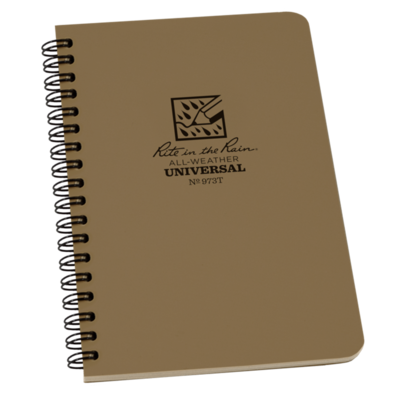 """Notebook 973T Side Coil Universal Tan, 4 5/8"""" x 7"""" - Rite In The Rain"""